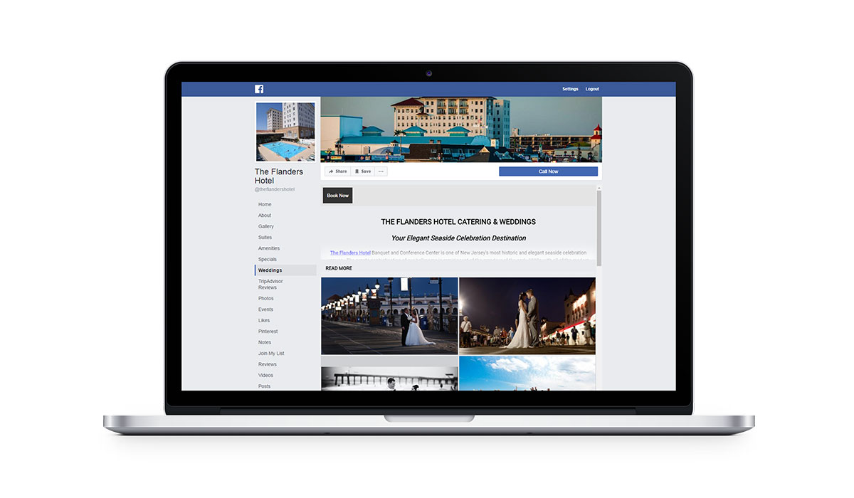 flanders hotel seo optimized facebook page