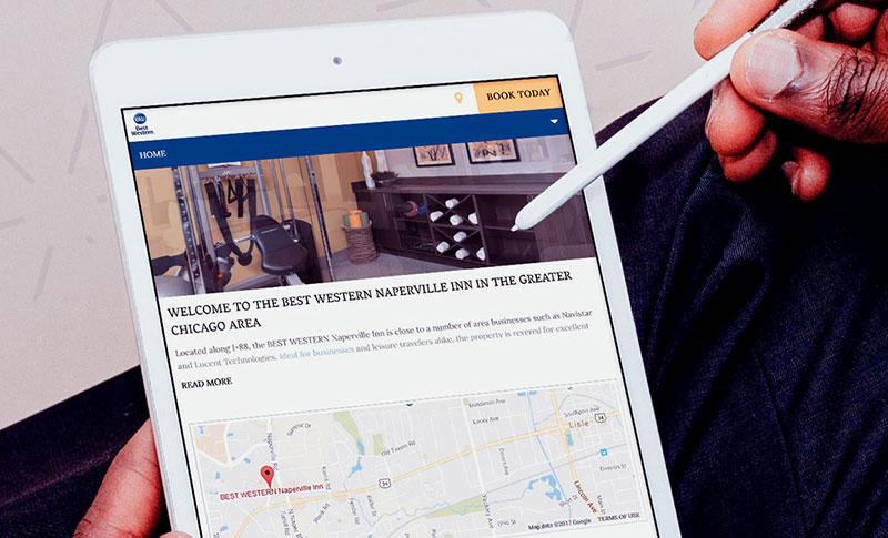 Google Maps integration on hotel website