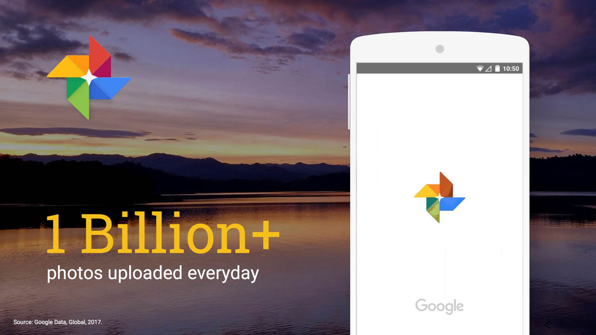 1 billion+ photos updated daily to google photos