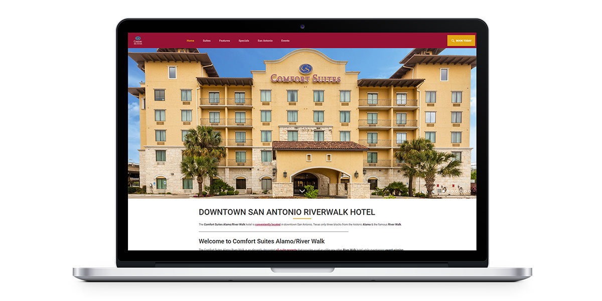 Comfort Suites Alamo River Walk homepage