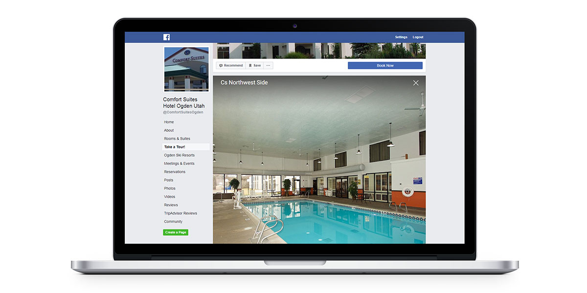 show off your amenities on your facebook page