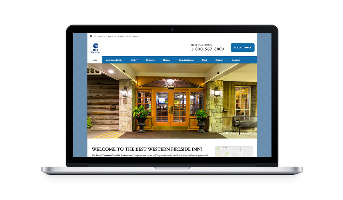 best western vizlly + seo website