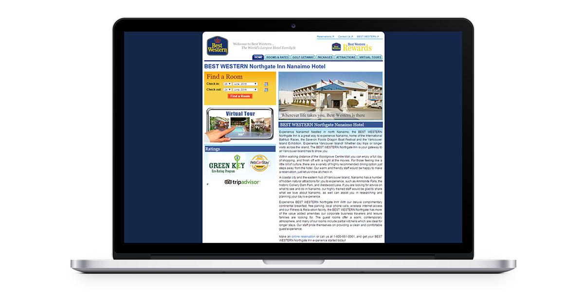 old best western northgate inn website