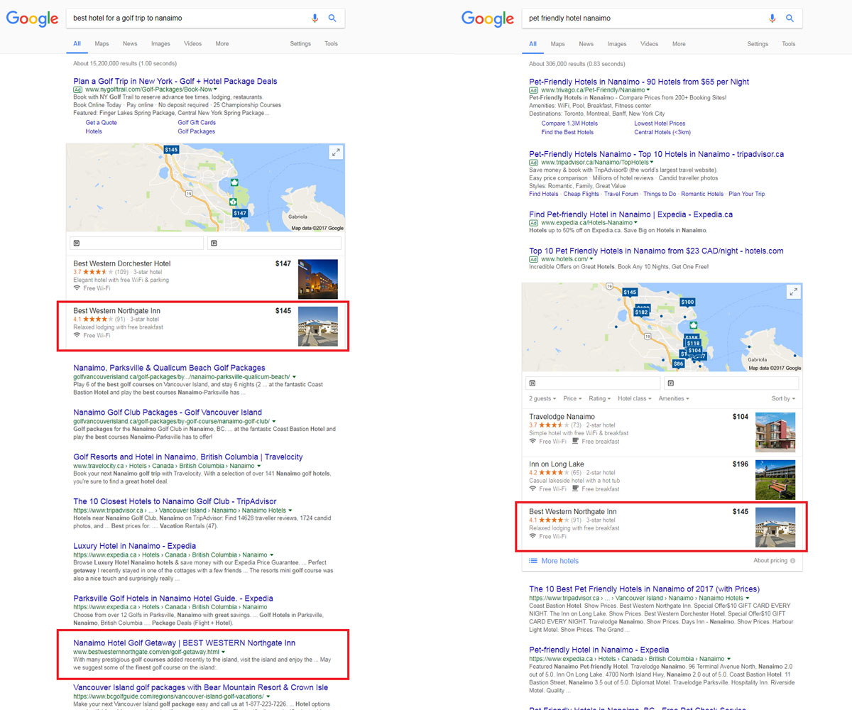 northgate inn seo results
