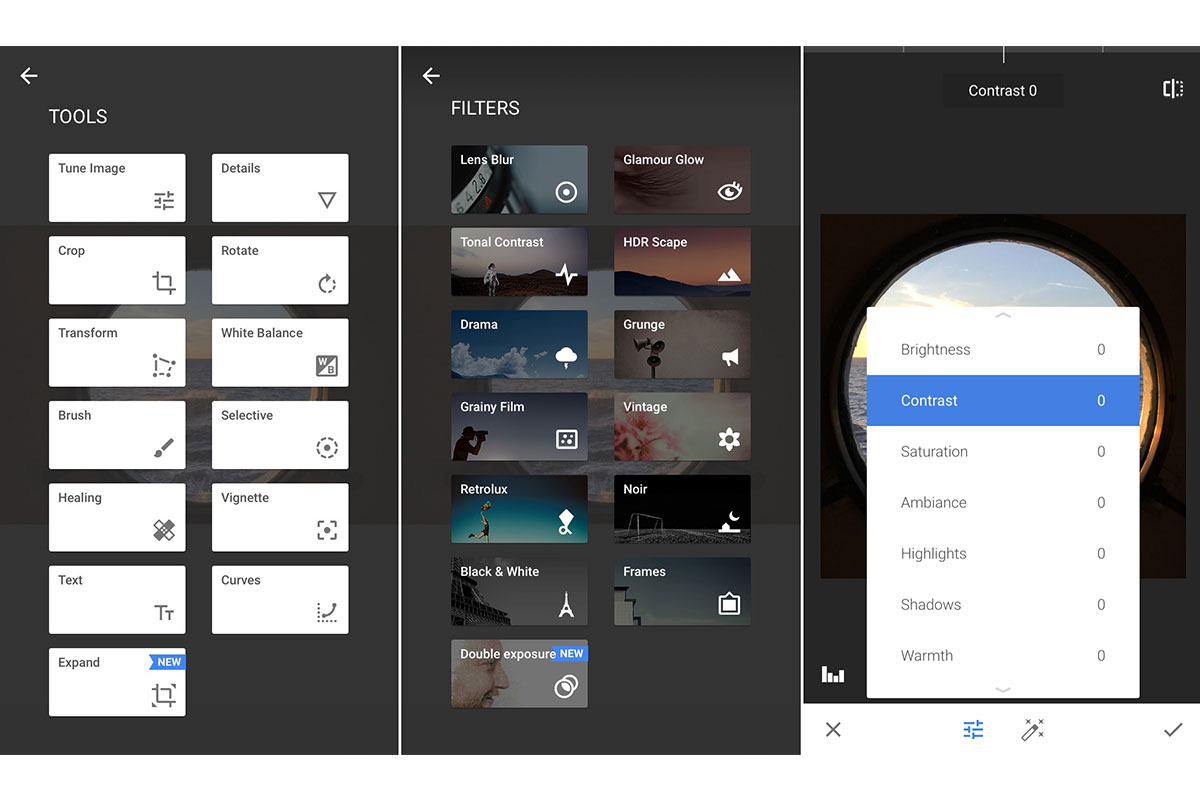 snapseed allows you to edit images for your social media posts