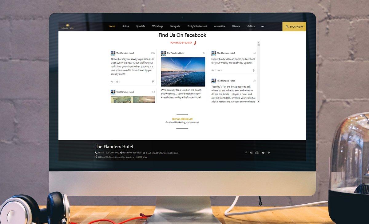 Flanders Hotel New Jersey Facebook widget