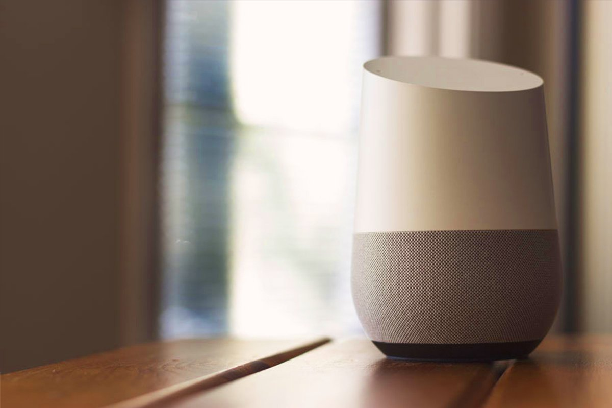 voice searches can be done on a google home