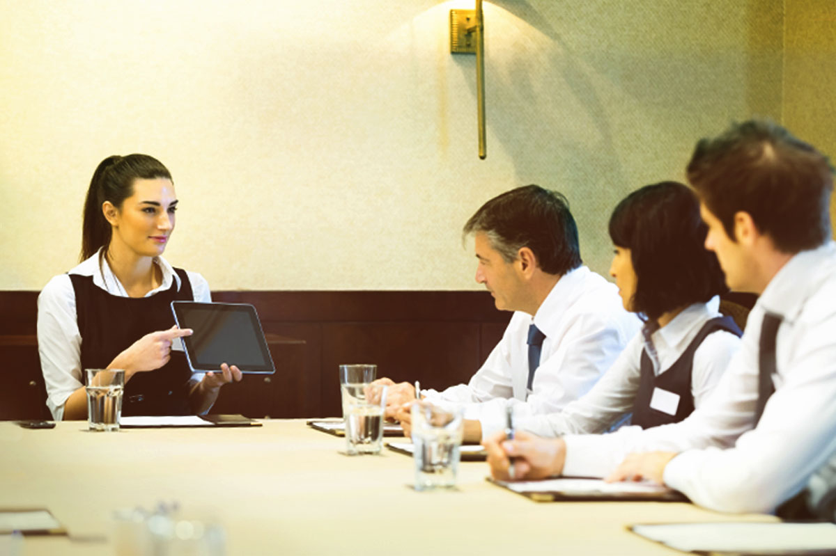 hotel staff discusses revenue management