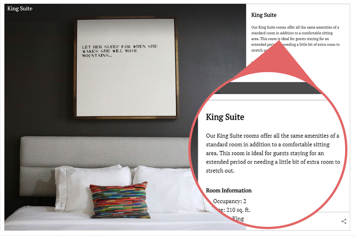 hotel ylem uses digital storytelling to describe their guestroom