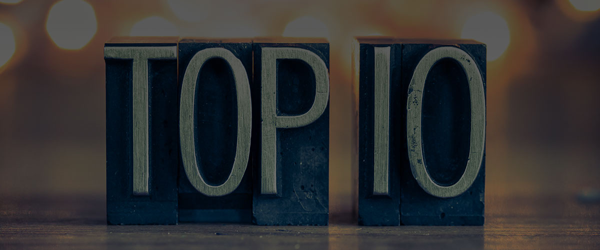 Top 10 Blog Articles of 2017