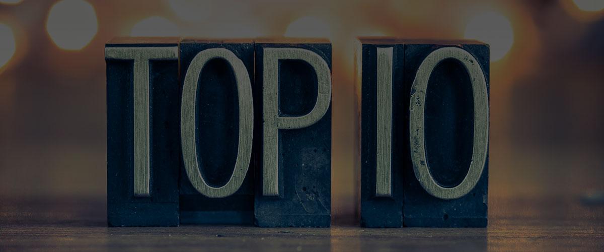 Top 10 Blog Articles of 2017