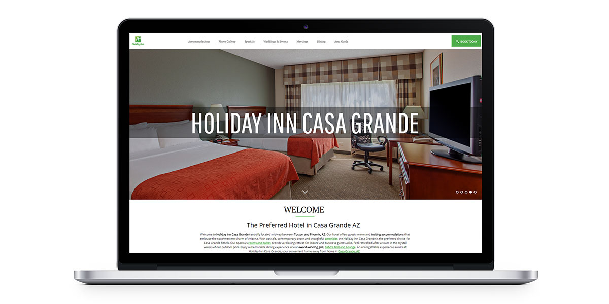holiday inn casa grande's new vizlly website