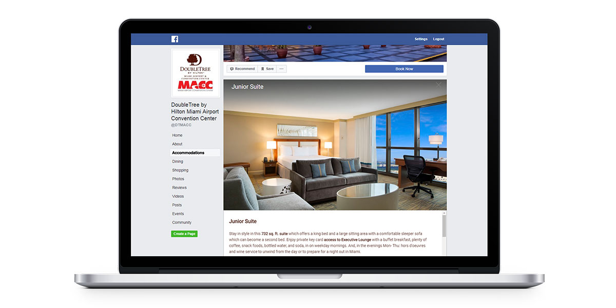 showcase your guest rooms on your facebook page