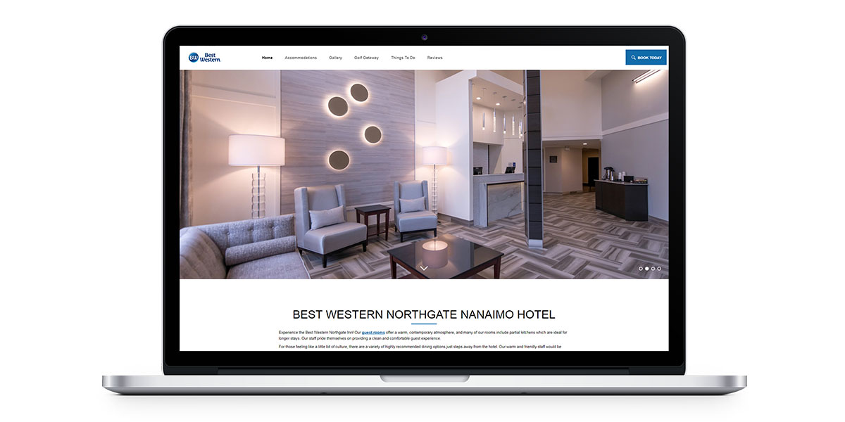 new website for the best western northgate inn