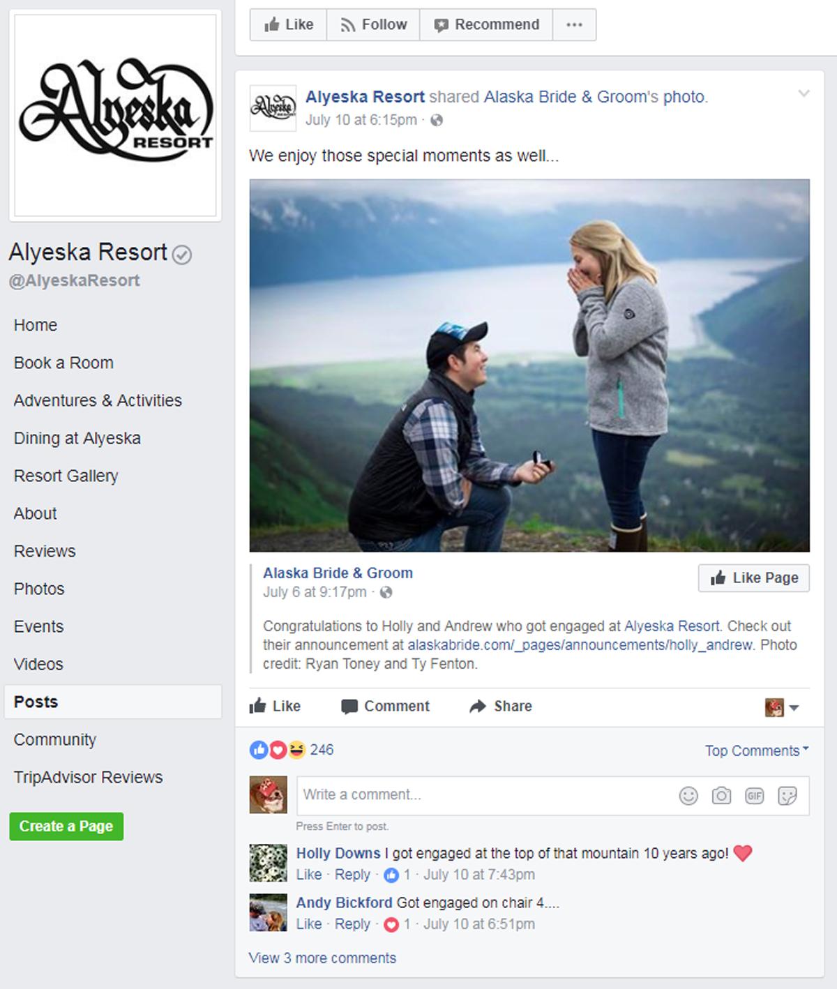human interest facebook post